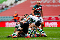 28th March 2021; Mattoli Woods Welford Road Stadium, Leicester, Midlands, England; Premiership Rugby, Leicester Tigers versus Newcastle Falcons; Louis Schreuder of Newcastle Falcons issues instructions at a ruck