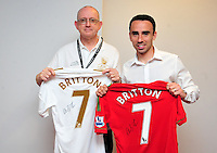 Swansea city fc sponsor awards... saturday 19th may 2013...<br /> <br /> <br /> <br /> Leon Britton.