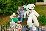 Little Aidan Breen O'Sullivan and his dad Niall helping the Teddy Bear's as they go on a fishing trip as part of the Teddy Bears Ballyhardaily escapades.