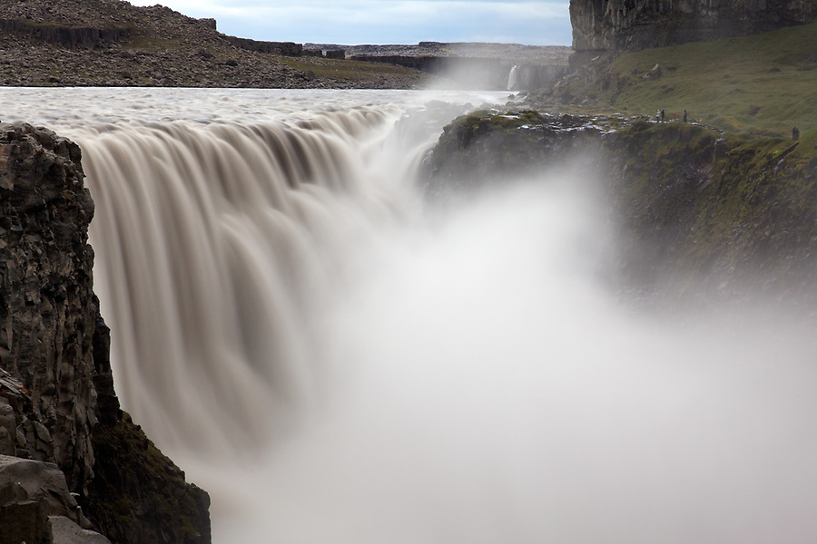 Jökulsá á Fjöllum River cascading over Dettifoss waterfall, Vatnajökull National Park, Northeast Iceland, Iceland