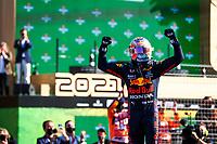 5th September 2021: Circuit Zandvoort, Zandvoort, Netherlands;  VERSTAPPEN Max ned, Red Bull Racing Honda RB16B, celebrates his win in parc ferme at the Formula 1 Heineken Dutch Grand Prix