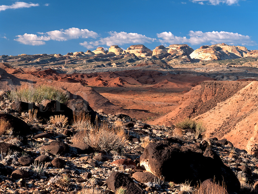 A rugged and interesting section of the Colorado Plateau at Notom, Utah<br />