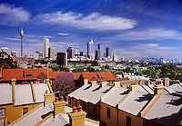 Skyline view from houses of Woolloomooloo.