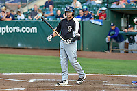Cole Anderson (24) of the Grand Junction Rockies at bat against the Ogden Raptors in Pioneer League action at Lindquist Field on August 26, 2016 in Ogden, Utah. The Raptors defeated the Rockies 6-5. (Stephen Smith/Four Seam Images)