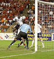 Jozy Altidore, 2010 FIFA World Cup qualifying.U.S. Men vs. Trinidad & Tobago.Hasely Crawford Stadium.Port of Spain, Trinidad.October 14, 2008.Trinidad and Tobago 2, USA 1