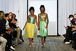 Child models/designers walk runway at the close of thier Almond Eyez Designs collection fashion show, during the KidFash Magazine runway show in Brooklyn, New York on Nov 4, 2017.