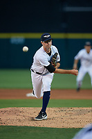 Lakeland Flying Tigers relief pitcher Ethan DeCaster (39) during a Florida State League game against the St. Lucie Mets on April 24, 2019 at Publix Field at Joker Marchant Stadium in Lakeland, Florida.  Lakeland defeated St. Lucie 10-4.  (Mike Janes/Four Seam Images)