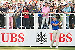 Rafael Cabrera Bello of Spain tees off the first hole during the 58th UBS Hong Kong Golf Open as part of the European Tour on 10 December 2016, at the Hong Kong Golf Club, Fanling, Hong Kong, China. Photo by Marcio Rodrigo Machado / Power Sport Images