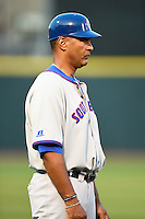 South Bend Cubs manager Jimmy Gonzalez (44) during a game against the Dayton Dragons on May 11, 2016 at Fifth Third Field in Dayton, Ohio.  South Bend defeated Dayton 2-0.  (Mike Janes/Four Seam Images)