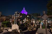 Mexico, Mixquic. Day of the Dead, Dia de los Muertos. Church of San Andres Apostol.