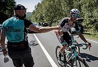 Jack Bauer (NZL/BikeExchange) catching a bidon<br /> <br /> 17th Benelux Tour 2021<br /> Stage 5 from Riemst to Bilzen (BEL/192km)<br /> <br /> ©kramon