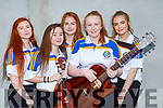 The Glenflesk ballad group who competed in the East Kerry Scor finals in Fossa on Saturday l-r: Caitlin Cronin, Sarah Moran, Molly O'Donoghue, Sinead Gleeson and Eabha Healy
