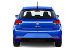 Straight rear view of 2022 Seat Ibiza Move!-+ 5 Door Hatchback Rear View  stock images