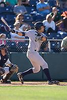 July 18, 2010: Eugene Emeralds' Luis Domoromo (#18) at-bat during a Northwest League game against the Everett AquaSox at Everett Memorial Stadium in Everett, Washington.