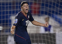 Abby Wambach celebrates USWNT vs Costa Rica in the 2010 CONCACAF Women's World Cup Qualifying tournament held at Estadio Quintana Roo in Cancun, Mexico on November 8th, 2010.