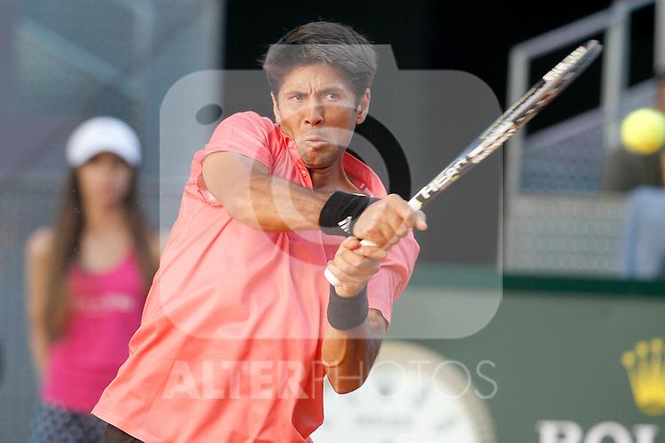 Fernando Verdasco, Spain, during Madrid Open Tennis 2015 match.May, 7, 2015.(ALTERPHOTOS/Acero)