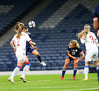 21st September 2021; Hampden Park, Glasgow, Scotland: FIFA Womens World Cup qualifying, Scotland versus Faroe Islands; Chloe Arthur of Scotland scores to make it 2-0 in the 21st minute