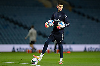 Leeds United's Illan Meslier warms up<br /> <br /> Photographer Alex Dodd/CameraSport<br /> <br /> Carabao Cup Second Round Northern Section - Leeds United v Hull City -  Wednesday 16th September 2020 - Elland Road - Leeds<br />  <br /> World Copyright © 2020 CameraSport. All rights reserved. 43 Linden Ave. Countesthorpe. Leicester. England. LE8 5PG - Tel: +44 (0) 116 277 4147 - admin@camerasport.com - www.camerasport.com