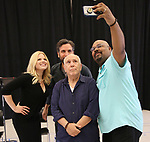 "Megan Hilty, Josh Radnor, Lee Wilkof and James Monroe Iglehart In Rehearsal for the Kennedy Center production of ""Little Shop of Horrors"" on October 11 2018 at Ballet Hispanica in New York City."
