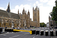 Armed Police officers on duty outside Houses of Parliament and House of Lords London UK. This image may only be used to portray the subject in a positive manner..©shoutpictures.com..john@shoutpictures.com