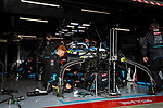 ROKiT Williams Racing team mechanics work during the tests for the new Formula One Grand Prix season at the Circuit de Catalunya in Montmelo, Barcelona. February 19, 2020 (ALTERPHOTOS/Javier Martínez de la Puente)