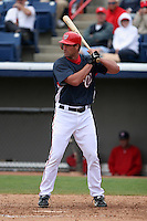Washington Nationals Travis Lee during a Grapefruit League Spring Training game at Spacecoast Stadium on March 19, 2007 in Melbourne, Florida.  (Mike Janes/Four Seam Images)