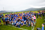 The St Marys Team and supporters celebrate their South Kerry Championship final win over Piarsaigh na Dromoda on Sunday in Waterville.