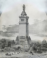 Proposal For Washington Monument 19th Century Artist Unknown