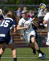 Boston College midfielder Mikaela Rix (17) on the attack. Boston College defeated Yale University, 16-5, at Newton Campus Field, April 28, 2012.