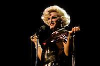 Le personnificateur feminin et chanteur (chanteuse) GUILDA, de son vrai nom Jean Guilda de Mortellaro,, vers 1986<br /> <br /> PHOTO : Pierre Roussel - Agence Quebec Presse