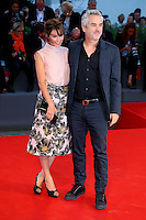 Sheherazade Goldsmith and Alfonso Cuaron attend the red carpet for the premiere of the movie 'Remember' during the 72nd Venice Film Festival at the Palazzo Del Cinema in Venice, Italy, September 10, 2015.<br /> UPDATE IMAGES PRESS/Stephen Richie