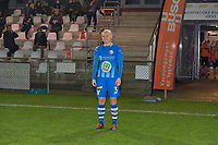 Gent's Ella Van Kerkhoven pictured entering the pitch for the first time after her injury during a female soccer game between  AA Gent Ladies and Oud Heverlee Leuven on the 9th matchday of the 2020 - 2021 season of Belgian Scooore Womens Super League , friday 11 th of December 2020  in Oostakker , Belgium . PHOTO SPORTPIX.BE | SPP | DIRK VUYLSTEKE