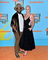 SANTA MONICA, USA. July 11, 2019: Lindsey Vonn & P.K. Subban at Nickelodeon's Kids' Choice Sports Awards 2019 at Barker Hangar.<br /> Picture: Paul Smith/Featureflash