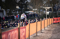 later winner Mathieu Van der Poel (NED/Alpecin Fenix) <br /> <br /> <br /> Men Elite Race<br /> UCI Cyclocross Worldcup – Hoogerheide (Netherlands)<br /> <br /> ©kramon