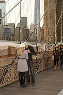 Brooklyn Bridge wedding proposal- taking the ring out of the pocket.