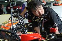 Lotus Renault Romain Grosjean' Race Engineer Ayao Komatsu.24/03/2012 Grand Prix Malesia, Sepang , Essais..Foto Insidefoto  /Bernard Asset / Panoramic.ITALY ONLY..