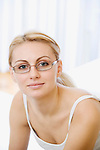 Russia, Voronezh, Portrait of smiling young woman