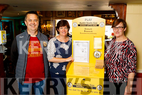 Terry and Ann Marie Healy standing with Fiona Kirby in the Brogue Inn on Thursday.