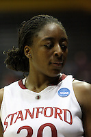BERKELEY, CA - MARCH 30: Nneka Ogwumike during Stanford's 74-53 win against the Iowa State Cyclones on March 30, 2009 at Haas Pavilion in Berkeley, California.
