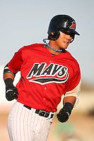 April 26 2009: Kuo Hui Lo of the High Desert Mavericks during game against the San Jose Giants at Mavericks Stadium in Adelanto,CA.  Photo by Larry Goren/Four Seam Images