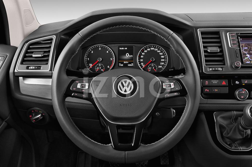 Car pictures of steering wheel view of a 2016 Volkswagen Multivan Comfortline BMT 5 Door Passenger Van Steering Wheel