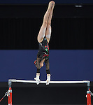 Wales' Angel Romaeo competes in the uneven bars<br /> <br /> Gymnastics artistic - Team final & Individual Qualification <br /> <br /> Photographer Chris Vaughan/Sportingwales<br /> <br /> 20th Commonwealth Games - Day 5 - Monday 28th July 2014 - Gymnastics artistic - The SSE Hydro - Glasgow - UK