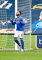 31st October 2020; The Kiyan Prince Foundation Stadium, London, England; English Football League Championship Football, Queen Park Rangers versus Cardiff City; Leandro Bacuna of Cardiff City preparing for his game