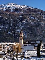 Mieminger Gebirge, Pfarrkirche von Tarrenz, Gurgltal Bezirk Imst, Tirol, Österreich, Europa<br /> Meininger Mountains, parish church of Tarrenz, district Imst, Tyrol, Austria, Europe