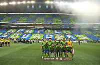 SEATTLE, WA - NOVEMBER 10: Seattle Sounders starting eleven during a game between Toronto FC and Seattle Sounders FC at CenturyLink Field on November 10, 2019 in Seattle, Washington.