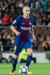 Andres Iniesta Lujan of FC Barcelona in action during the La Liga match between FC Barcelona vs RCD Espanyol at the Camp Nou on 09 September 2017 in Barcelona, Spain. Photo by Vicens Gimenez / Power Sport Images