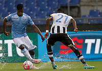 Calcio, Serie A: Lazio vs Udinese. Roma, stadio Olimpico, 13 settembre 2015.<br /> Lazio's Keita Diao, left, is challenged by Udinese's Andrade Edenilson during the Italian Serie A football match between Lazio and Udinese at Rome's Olympic stadium, 13 September 2015.<br /> UPDATE IMAGES PRESS/Isabella Bonotto
