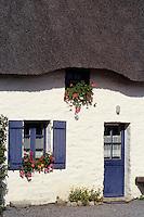 Europe/France/Pays de la Loire/44/Loire-Atlantique/Parc Naturel Régional de Brière/Grande Brière/Kerhinet: Détail chaumière