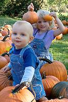 Children in Pampkin Patc