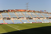 Uefa Women 's Champions League Final 2010 at  Coliseum Alfonso Perez in Getafe , Madrid : Olympique Lyon - Turbine Potsdam : Stadion Getafe.foto DAVID CATRY / Vrouwenteam.be